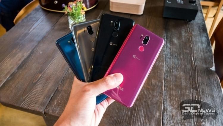 Цвета корпуса LG G7 ThinQ, фото сайта Androidauthority.com