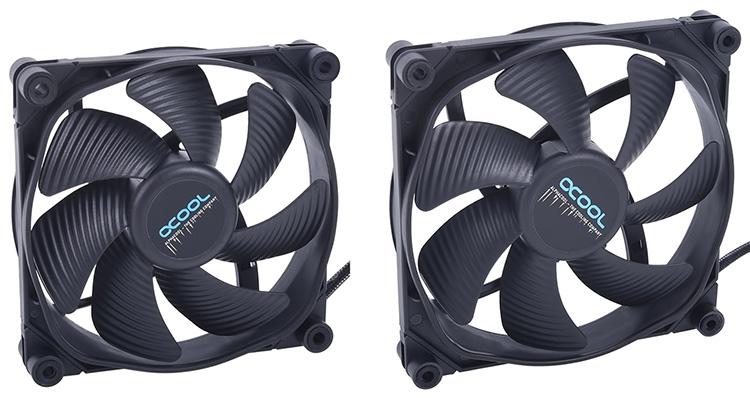 Вентиляторы Eiswind Silent: 120 и 140 мм (справа)