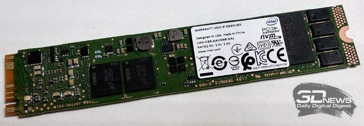 Intel SSD DC P4511, вид сзади