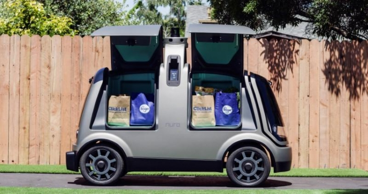 """Крупнейшая в США сеть супермаркетов Kroger протестирует доставку продуктов робомобилем Nuro R1"""""""