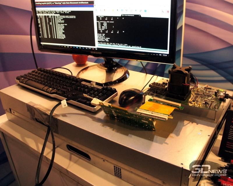 Рабочая демо-система с неназванным CPU и FPGA, соединённых шиной CCIX