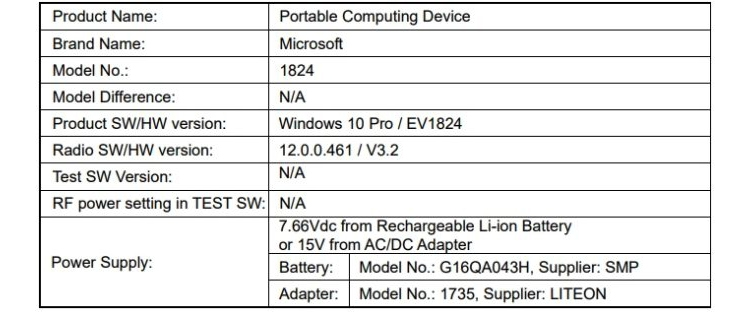 "Новый планшет Microsoft Surface замечен на сайте американского регулятора"""