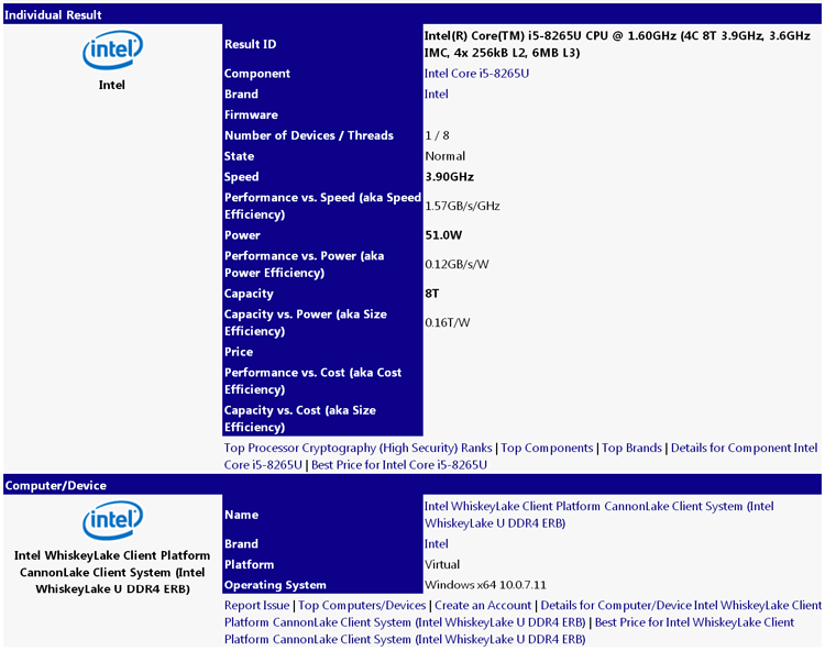 08 1s - Процессоры Whiskey Lake-U поддерживают динамический разгон до 4,6 ГГц