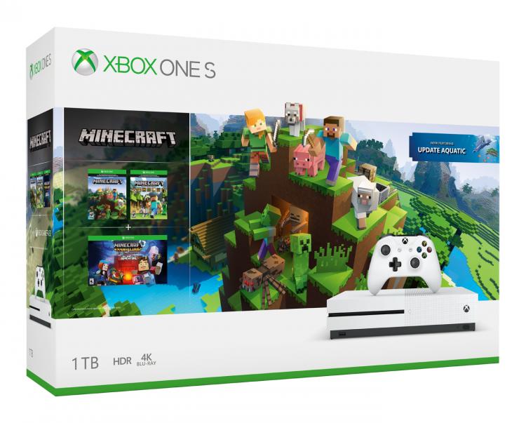 """Комплекты Xbox One X PUBG и Xbox One S Minecraft появятся в продаже в России этим летом"""""""