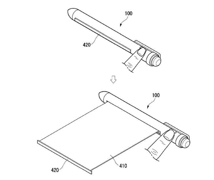"""В LG изобрели «умную» ручку с вытягивающимся дисплеем"""""""