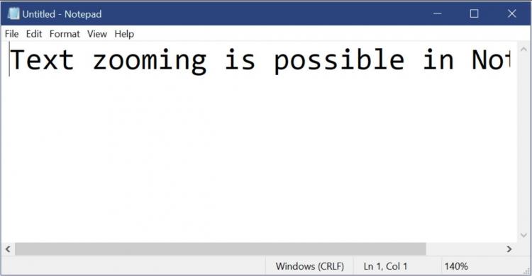 Microsoft готовит обновление для приложения «Блокнот»