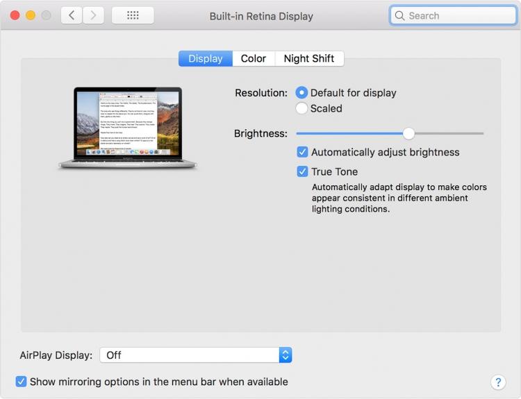 """Технология True Tone от Apple заработала на некоторых внешних мониторах"""""""