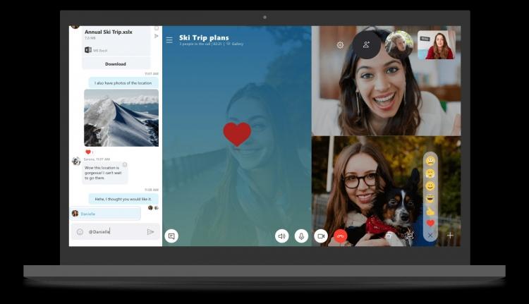 """Классическая настольная версия Skype получила новый дизайн в духе мобильной версии"""""""