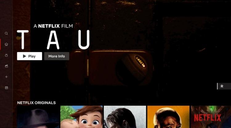 """Netflix обновила дизайн приложения для телевизоров, добавив боковую панель"""""""