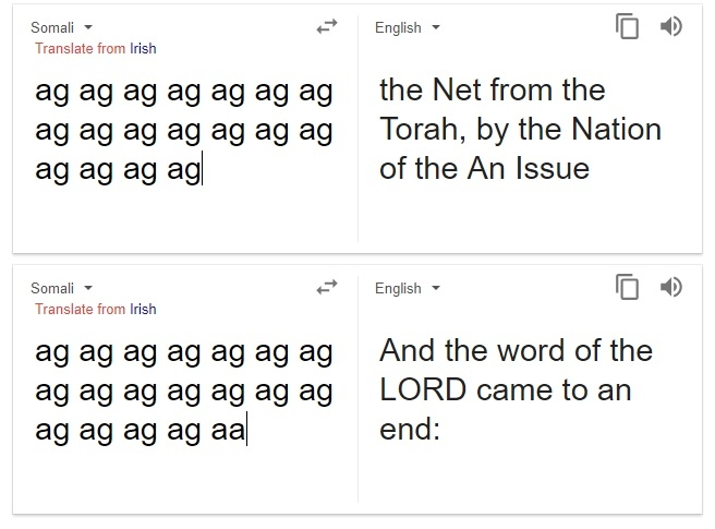 """Google ИИ вместо переводов начал выдавать пророчества о конце света"""""""