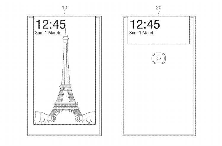 """В Samsung придумали селфи-смартфон с дисплеем на обратной стороне"""""""