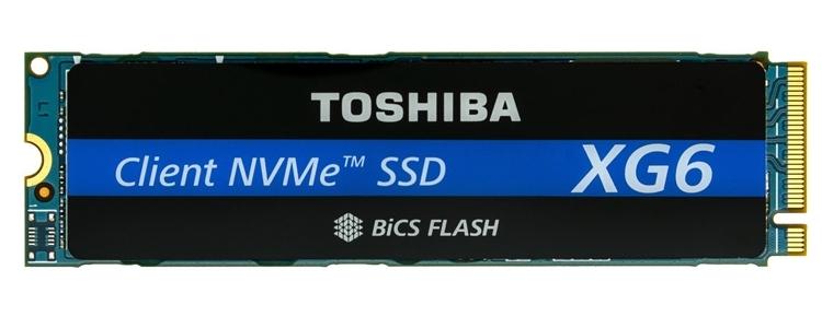 SSD Toshiba XG6 на 96-слойной 3D NAND TLC