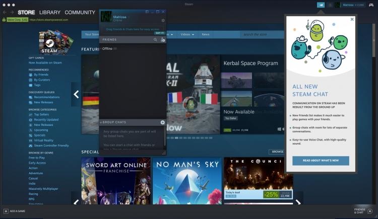 """Valve добавила в клиент Steam новый чат и поддержку контроллеров PS3"""""""