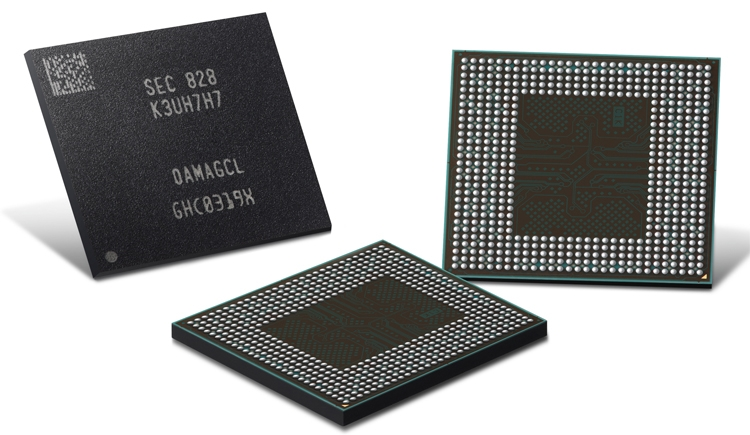 """В Samsung начат выпуск памяти LPDDR4X для смартфонов следующего поколения"""""""