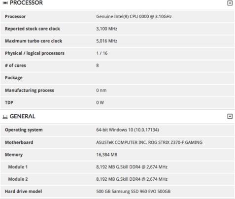 """Тесты Intel Core i9-9900K в 3DMark: на 25% быстрее i7 8700K"""""""