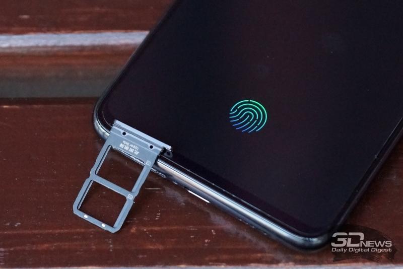 Vivo NEX, слот для двух карт стандарта nano-SIM