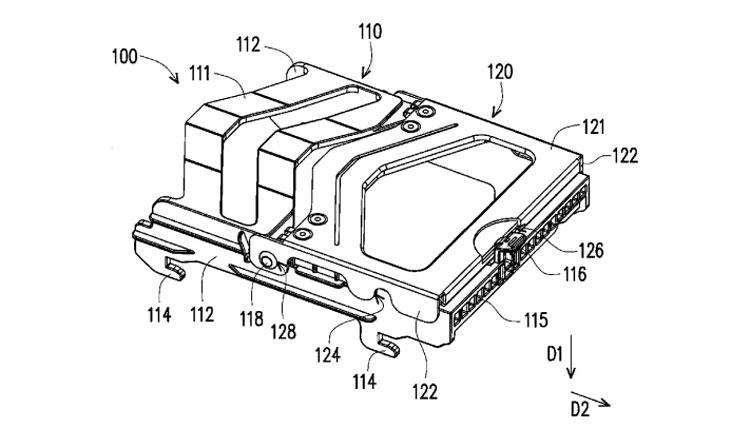 Изображение из патента GIGABYTE (лоток в сборе)