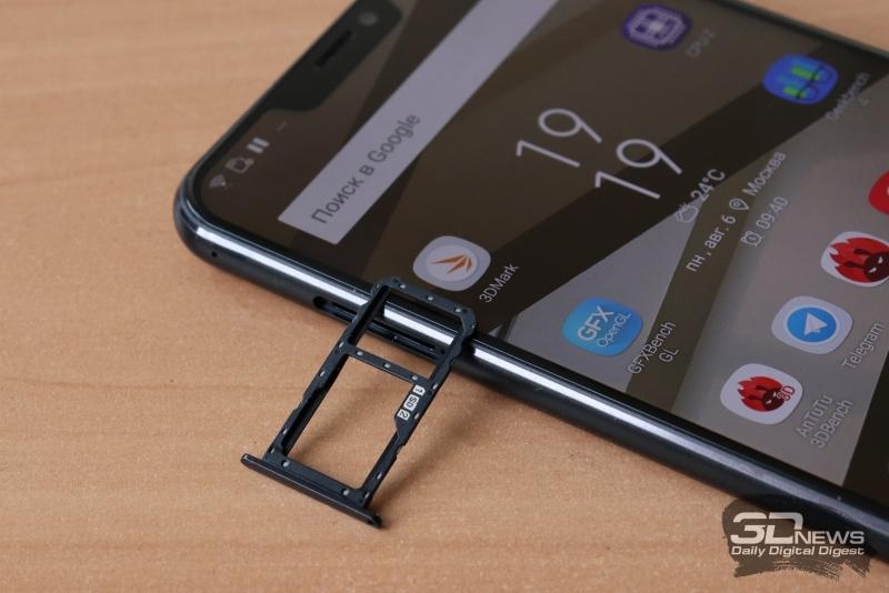 ASUS Zenfone 5Z, слот для nano-SIM и карты памяти
