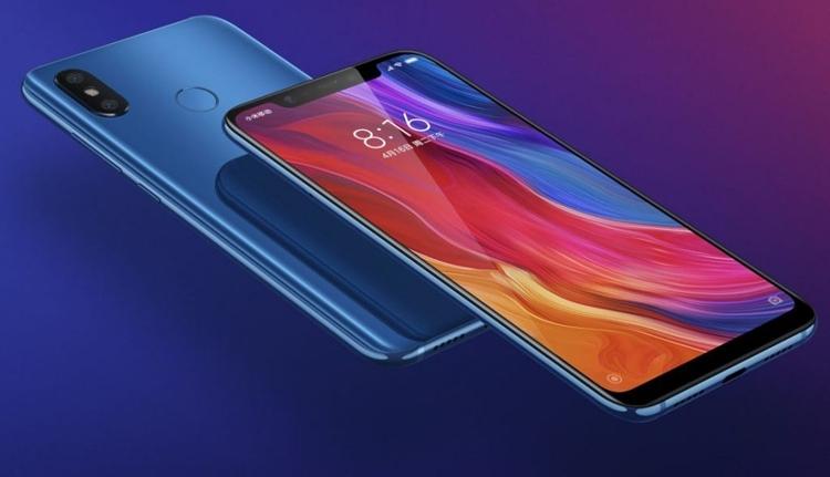 Синий вариант Xiaomi Mi 8