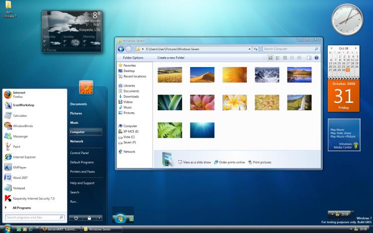Десктоп Windows 7. Скриншот с сайта i1.wp.com