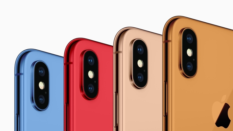 Пёстрые варианты раскраски iPhone 2018