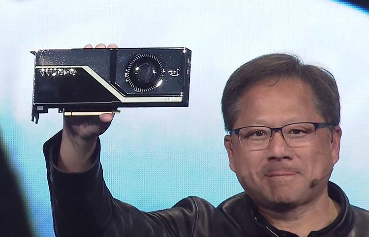 Дженсен Хуанг демонстрирует профессиональный ускоритель Quadro RTX 8000