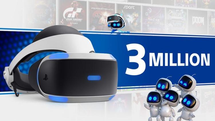 Продажи шлемов Sony PlayStation VR превысили 3 млн экземпляров