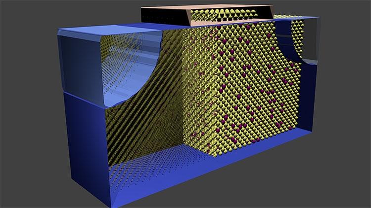 Структура обычного кремний-германиевого полевого транзистра (Purdue Office of Technology Commercialization)