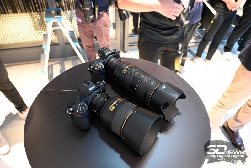 Nikon Z7 с переходниками и оптикой F-mount