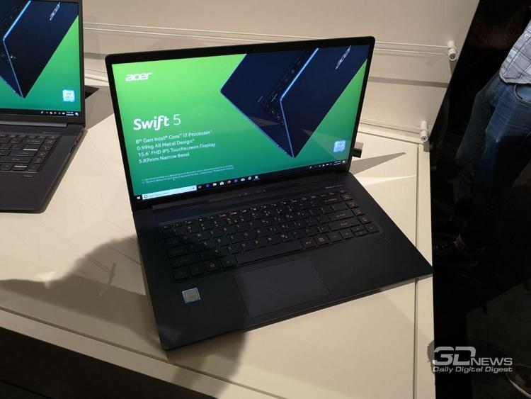 Acer Swift 5 стал самым простым вмире 15-дюймовым ноутбуком