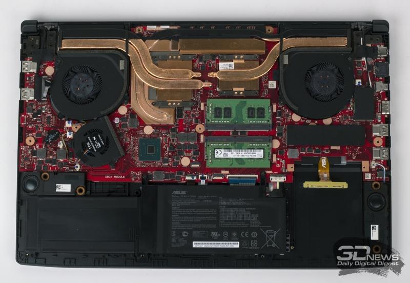 Пример системы охлаждения ноутбука, которая не справится с отводом тепла от 6-ядерного Core i7