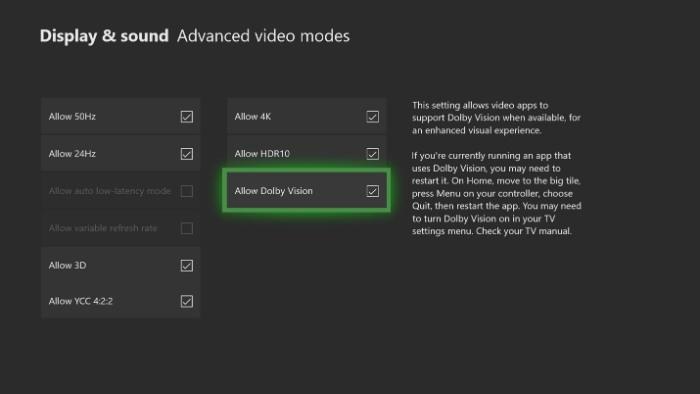 "Режим Dolby Vision HDR уже доступен для тестирования на Xbox One"""