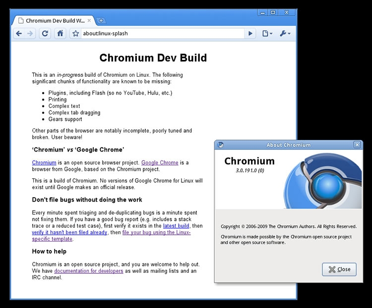 Google Chrome 3.0 для Linux