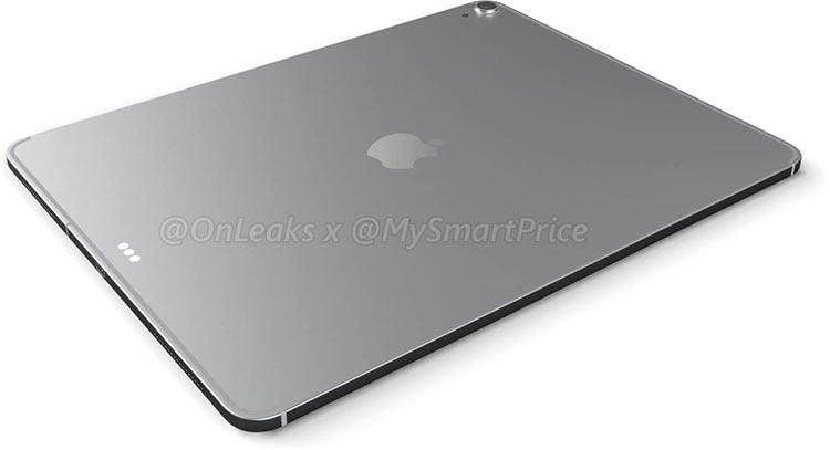 """Видео: рендер iPad Pro 12,9 с новым дизайном в стиле iPhone X, но без экранного выреза"""""""