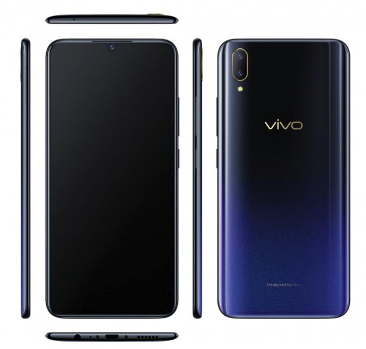 """Vivo V11: смартфон среднего уровня с экранным сканером отпечатков пальцев"""""""
