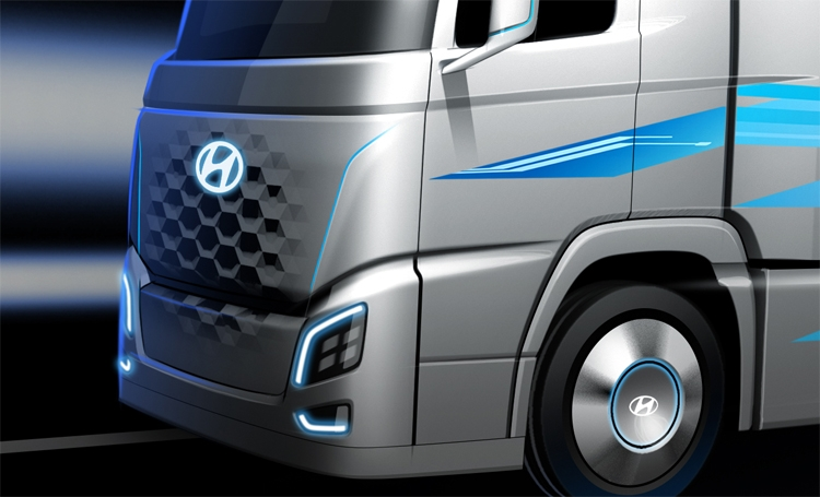 """Hyundai показала грузовой автомобиль на топливных элементах"""""""