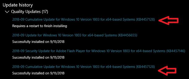 """Windows 10 предлагает дважды установить одно и то же обновление"""""""