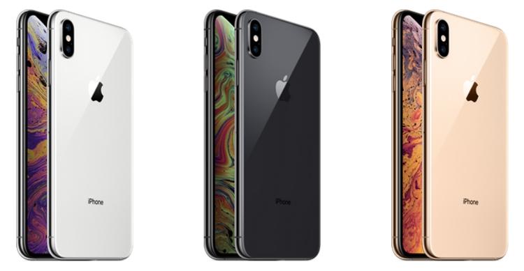 iPhone XS в трех цветах