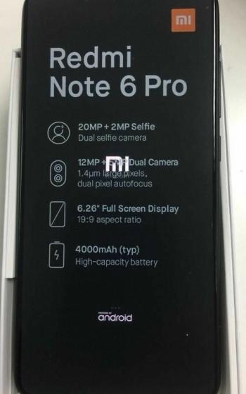 """Смартфон Xiaomi Redmi Note 6 Pro получит четыре камеры"""""""