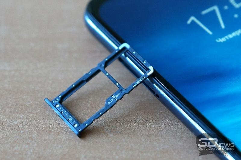 Pocophone F1, слот для двух nano-SIM