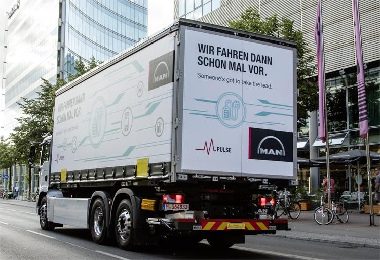 """В Австрии начинаются испытания электрических грузовиков MAN eTrucks"""""""
