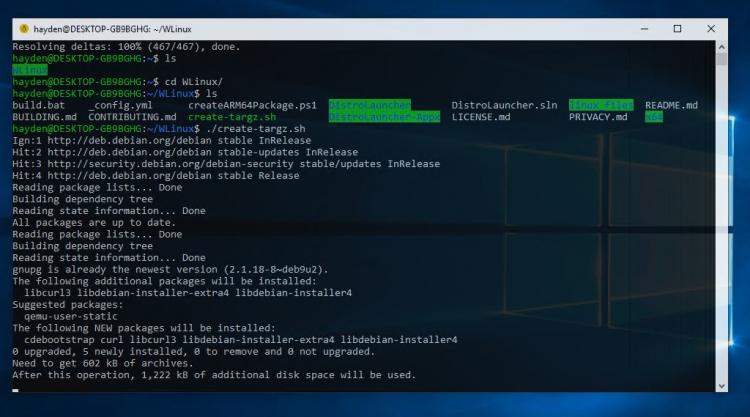 "Проект WLinux развивает дистрибутив Linux исключительно для Windows 10"""