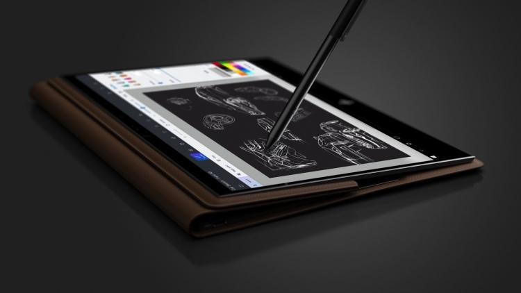 "HP представила трансформируемый ноутбук Spectre Folio в корпусе из кожи"""