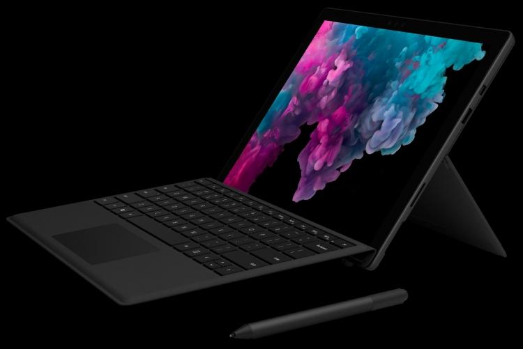 """Планшет Microsoft Surface Pro 6: чёрная отделка и 4-ядерные CPU"""""""