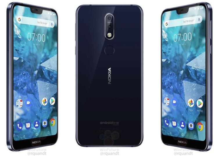 """Раскрыто оснащение смартфона Nokia 7.1: чип Snapdragon 636 и экран Full HD+"""""""
