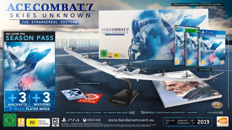 В коллекционное издание Ace Combat 7: Skies Unknown войдёт 40-сантиметровая модель самолёта