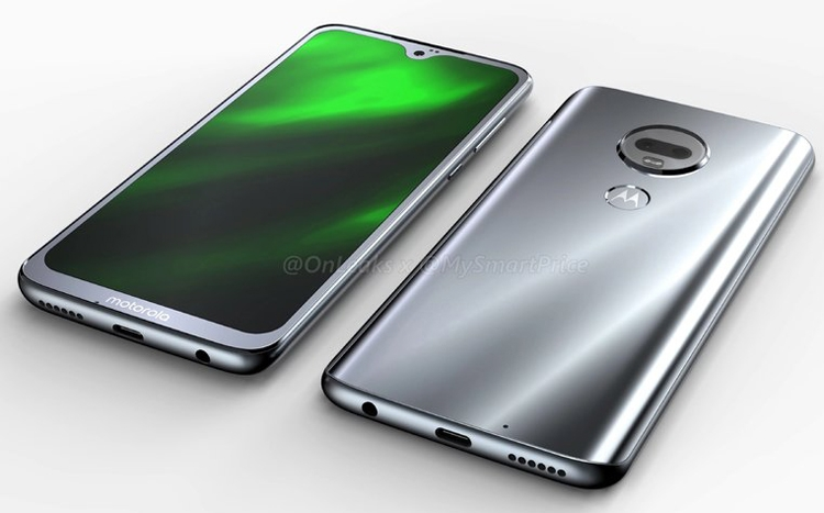 Смартфон Motorola Moto G7 скаплевидным вырезом