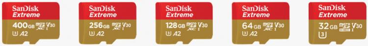 microSD-карты SanDisk Extreme A2