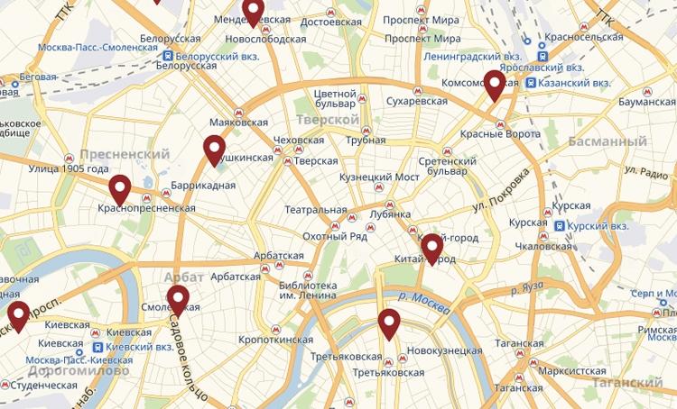 """Представлена карта точек банковского обслуживания для сдачи биометрических данных"""""""