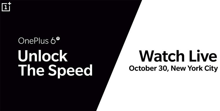 "Официально: смартфон OnePlus 6T будет представлен 30 октября"""
